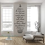eDesign24 Wandtattoo Zuhause ist Wandspruch Spruch Leben Liebe Freunde Familie Wanddekoration Wand Tattoo Design ca. 31 x 80 cm schwarz