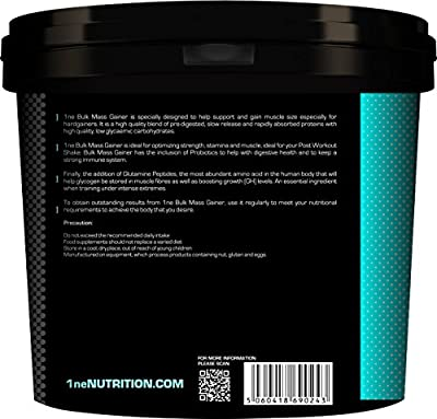 1ne Nutrition Bulk 4kg Hi-calorie Mass Gainer / Weight Gain Whey Protein Powder Serious Mass from 1ne Nutrition