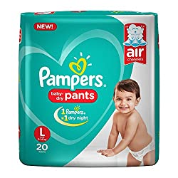 Pampers New Large Size Diapers Pants, 20 Count