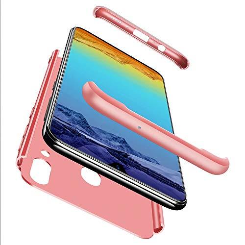 Lanpangzi Compatible con Funda One Plus 6T/1+6T Case + Vidrio Templado 360°Caja Caso 3 in 1 Carcasa Todo Incluido Anti-Scratch Case Cover Protectora de teléfono para One Plus 6T/1+6T (Rojo)