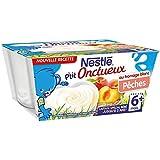 Nestlé p'tit onctueux au fromage blanc saveur pêche 4x100g dès 6 mois - ( Prix Unitaire ) - Envoi Rapide Et Soignée