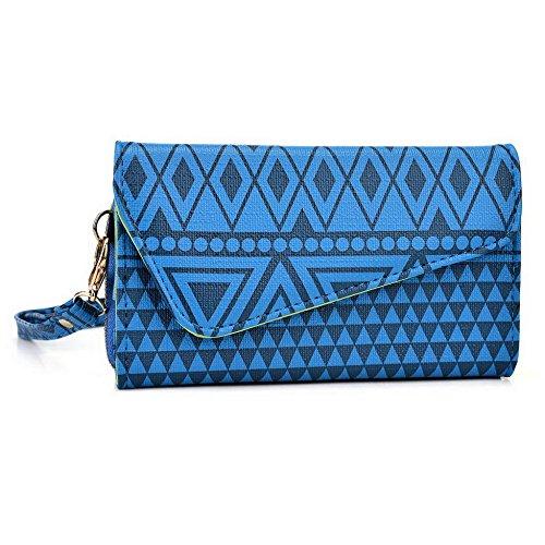 Kroo Pochette/étui style tribal urbain pour Philips w8500 Multicolore - White with Mint Blue Multicolore - bleu marine