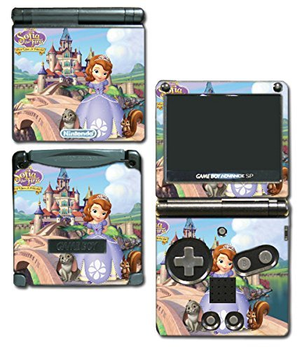 Princess Sofia the First Dress Doll Cartoon Video Game Vinyl Decal Skin Sticker Cover for Nintendo GBA SP Gameboy Advance System by Vinyl Skin Designs