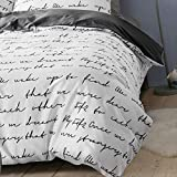 WSGYA Bettwäsche Cover Letter Bettbezug Single King Size Family Bettbezug 155x215 Schwarz