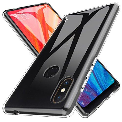 LK Funda para Xiaomi Mi Mix 2s, Carcasa Cubierta TPU Silicona Goma Suave Case Cover Ultra Fino Anti-Arañazos - Clara