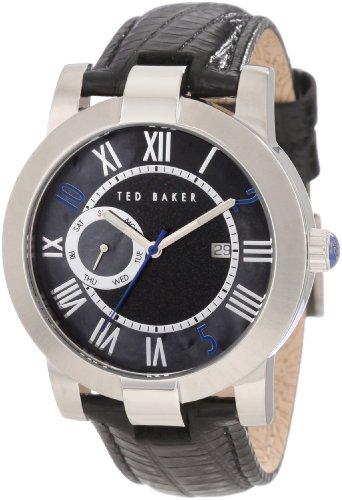 Ted Baker TE1074 - Reloj para hombres, correa de cuero color negro
