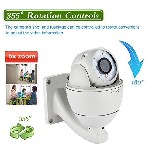 Sricam IP Camera WiFi 720p H.264 Impermeabile WLAN Wireless ONVIF 2.8-12mm Varifocale 5XZOOM IR-CUT