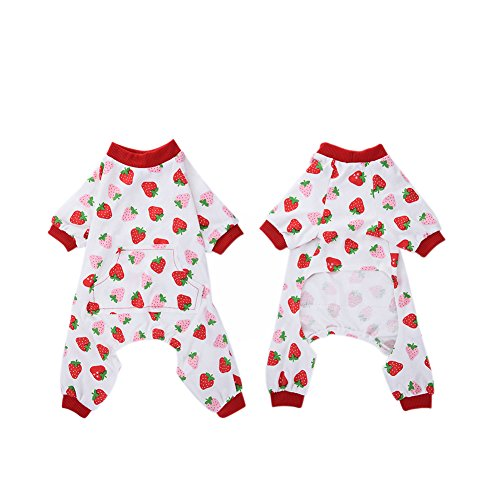 WIDEN Pet Dog Pajamas Jumpsuits Puppy Clothes Cotton Cute