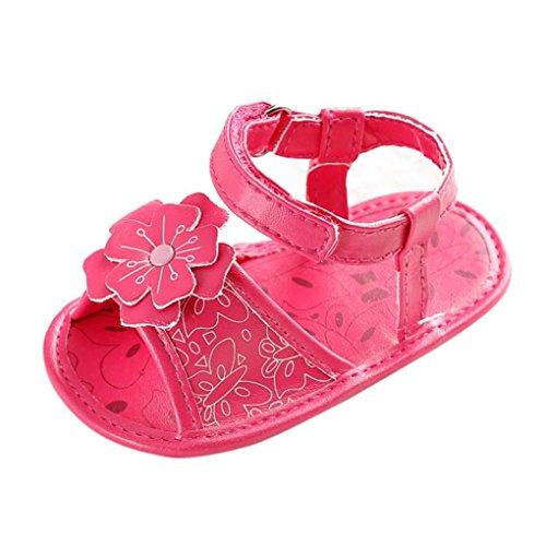 Tefamore Zapatos Sandalias Bebé de Recién Nacido Flor Suave Suela Antideslizante Zapatillas...