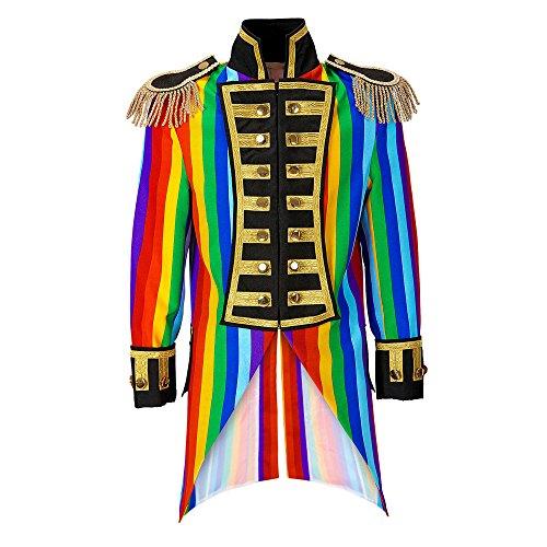 Widmann 59331 Herren Frack Rainbow Parade kostüm, S, -
