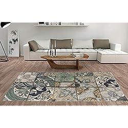 Alfombra Moderna Algodón Estampada Mosaico (Varias medidas) 160 x 230 cm