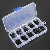 160pcs Metric M3 Black Nylon Schrauben, Muttern Sortiment Set