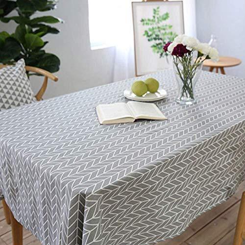 NO BRAND Mantel Decorativo geométrico Gris Mantel de Lino de algodón Mantel...