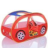 Pop Up Spielzelt Auto Spielhaus und Bällebad mit 100 bunten
