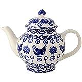 Emma Bridgewater - Blue Hen & Border - 4 Cup Tea Pot
