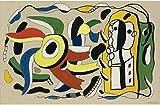 Berkin Arts Fernand Leger Giclée Tela Stampa La Pittura Poster Home Decor Riproduzione(Le Due Bambole) #XFB