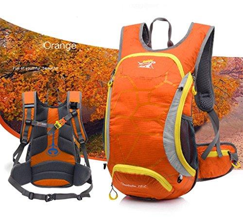 Outdoor scalata escursioni in montagna zaino zaino da viaggio borsa a tracolla leggera e traspirante arancione