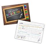 itenga 12x Einladungskarte DIN A6 quer zum Schulanfang Einschulung Schulstart 1.Schultag