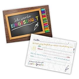 itenga-12x-Einladungskarte-DIN-A6-quer-zum-Schulanfang-Einschulung-Schulstart-1Schultag
