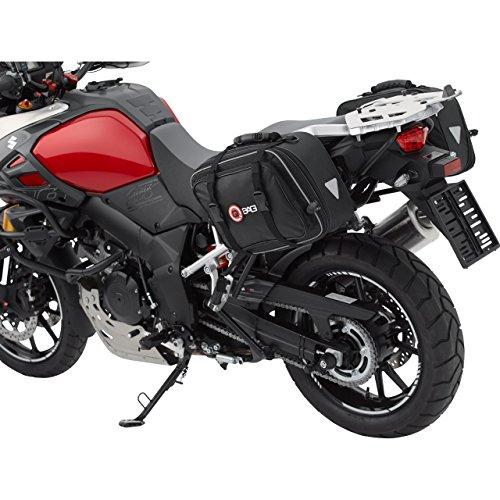 QBag Motorrad Satteltaschen für Motorrad Taschen Satteltaschenpaar 01 abnehmbar, inkl. Regenhaube, universell, 30-46 Liter Stauraum, über 2 Reißverschlüsse einstellbar, Stauraum von 15 auf 23 Liter pro Tasche erweiterbar