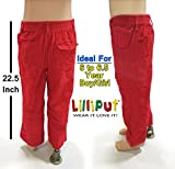 #8: Lilliput Boys Corduroy Trouser Pant For Kids (6 to 6.5 Year) Baby Boys 6-Pocket Cargo Corduroy Jeans Pant – Straight Fit Red Pant Ideal For 6 to 6.5 Year Kid
