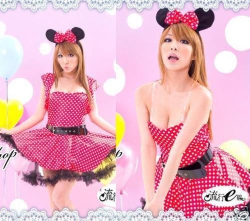 shoperama Sexy Kostüm MINNIE MOUSE COMIC Gr. 32-36 (Sexy Minnie Kostüm)