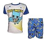 pigiama neonato puro cotone mezza manica BATMAN e SUPERMAN art. WD100218 (12 mesi, batman)