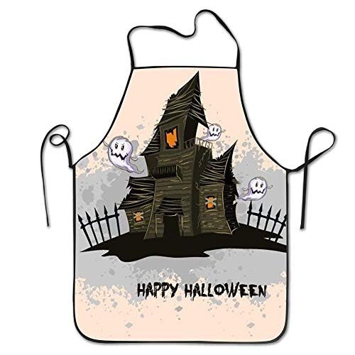 Kaixin J Aprons for Women Men Derlonkaje Happy Halloween