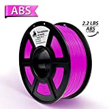 3D Filament, ABS 3D Printer Filament 1.75mm, 1KG Spool(2.2lbs),3D Printing Filament Dimensional Accuracy +/- 0.02mm- NO Clogging(Fuchsia)