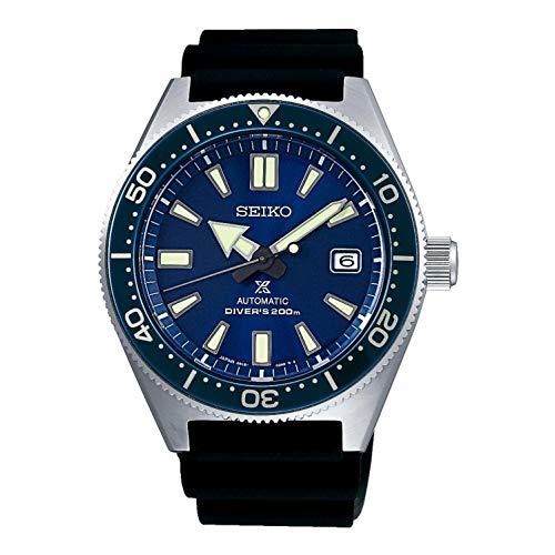 Seiko Herren-Armbanduhr 42mm Armband Kautschuk Schwarz Automatik SPB053J1