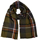 PIECES Damen Schal PCFIRI Long Scarf, Mehrfarbig Winter Moss, One Size