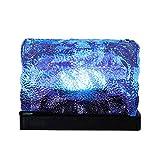 SYXZFZ 1Solar Brick LED Landschaft Ice Cube Solar Licht Licht Wasserdicht Farbe Verändern Rock Lampe für Outdoor Path Road Quadratisch Yard