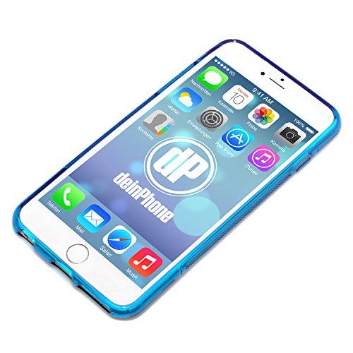 deinphone Apple iPhone 6Plus (5.5) Coque bumper Case S-Line Transparent Bleu