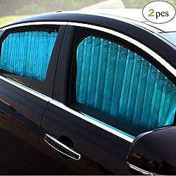 2er Set Faltbarer Sonnenschutz mit Saugnapf,38 x 44 cm,Seitenscheibe,Heckscheibe