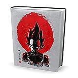 Funda para libro de 9 x 11 pulgadas Vegeta Sun Póster Dragon Ball Z -...