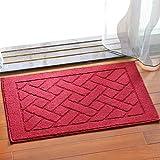 Küche Balkon Matte Langen Streifen Verdickt Eingangstür Quadratischen Boden Matte Teppich, Rot