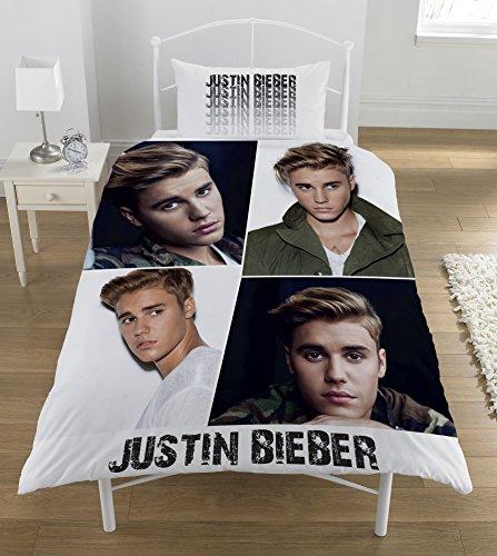 Justin Bieber Montage' Single Bettbezug-Set, mehrfarbig (Bettwäsche Mädchen-sport)