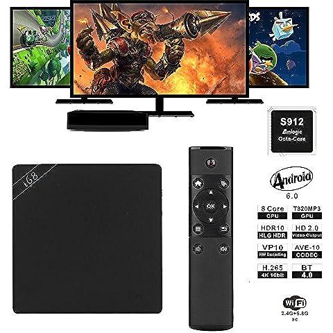 Pinwheel i68 Amlogic S912 Octa Core 2GB RAM 16GB ROM Kodi Android 6.0 TV Box Doppio Wifi Miracast DLNA 4K Intelligente Impostato Top Box
