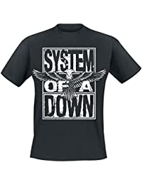 System Of A Down Stacked Eagle T-shirt noir