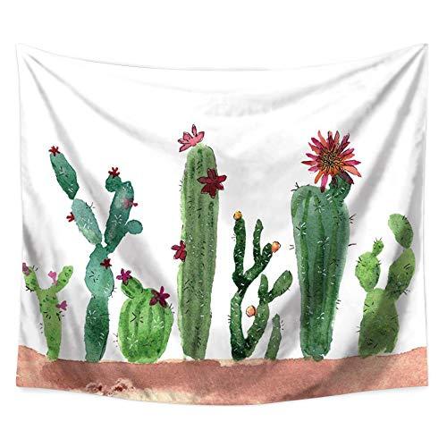 MAFYU Wandteppiche/Tapisserie,Kaktus Topfpflanzen Multifunktionale Hängenden Tuch Wand Strandtuch 180 * 230Cm