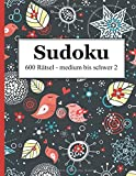 Sudoku 600 Rätsel medium bis schwer 2 - David Badger
