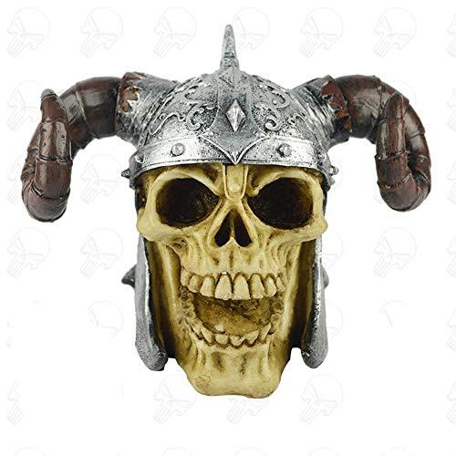 oration Römischer Soldat Gladiator Schädel mit Helm Harz Material 1 KG ()