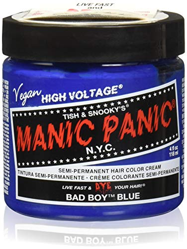 Manic Panic High Voltage Classic Creme Formel Haarfarbe 118ml (Bad Boy Blue) (Halloween Rockabilly Haar)