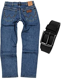 Wrangler TEXAS STRETCH Herren Jeans Regular Fit inkl. Gürtel