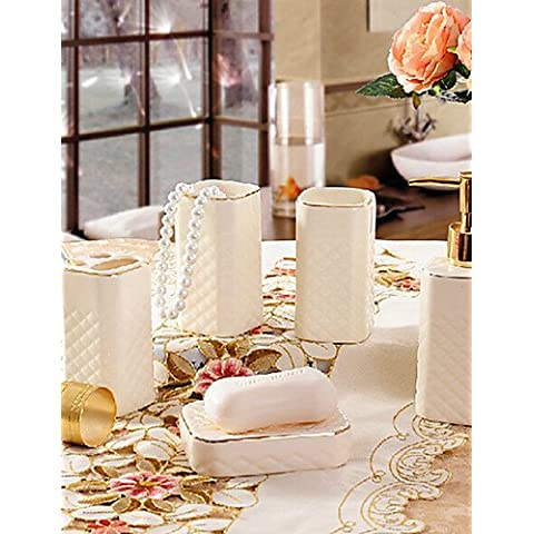 5 Bagno di pezzo insieme di raccolta di materiale ceramico,bagno