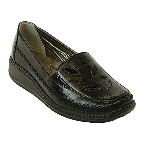 Cushion Walk Womens Slip-On Shoes in Black - LS49 (7 uk)