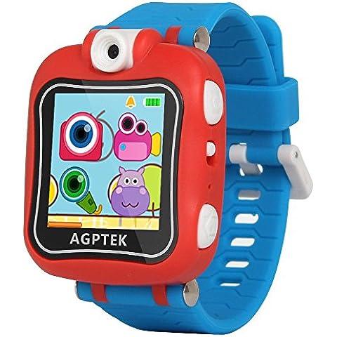 AGPtek W6 Reloj inteligente para niños con Rotación cámara, juegos, Temporizador, despertador, Color