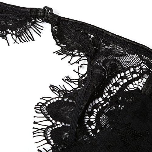 MIOIM®Femme Siamois Vêtements Amusants Sous-vêtement Sexy En Dentelle Noir