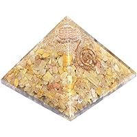 Pyramid Yellow Aventurine 3-3.5 Inch Orgonite Gemstone Chakra Balancing Reiki Healing + 1 Amethyst Pointer Pendant preisvergleich bei billige-tabletten.eu