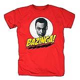 TSP The Big Bang Theory - Bazinga Sheldons Head T-Shirt Herren XXXL Rot